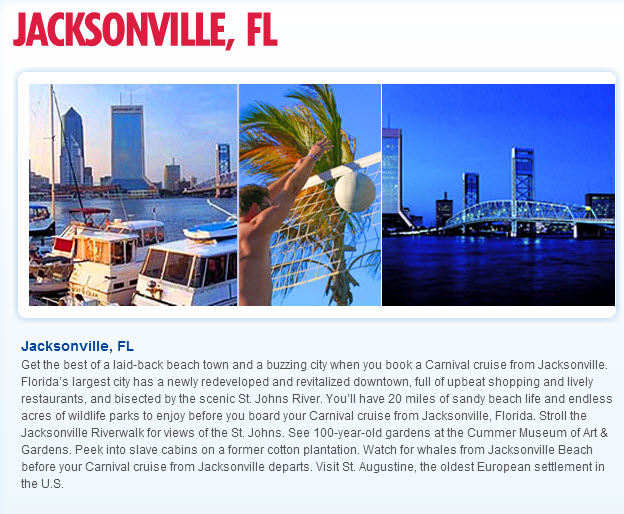 Jacksonville Travel Agents Cruises